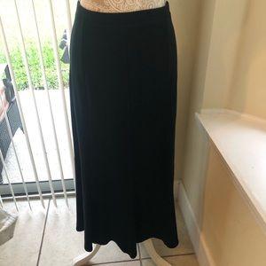 Eileen Fisher | Long Black Wool Skirt Size L
